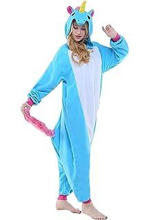 Pyjamas Einteiler Junge Madchen Kinder Einhorn Tier Kostum Fur