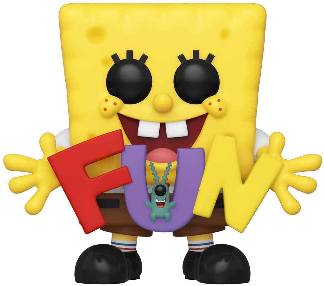 Amazon Com Funko Pop Animation Spongebob Squarepants Spongebob Plankton With Fun Song Letters Amazon Exclusive Toys Games