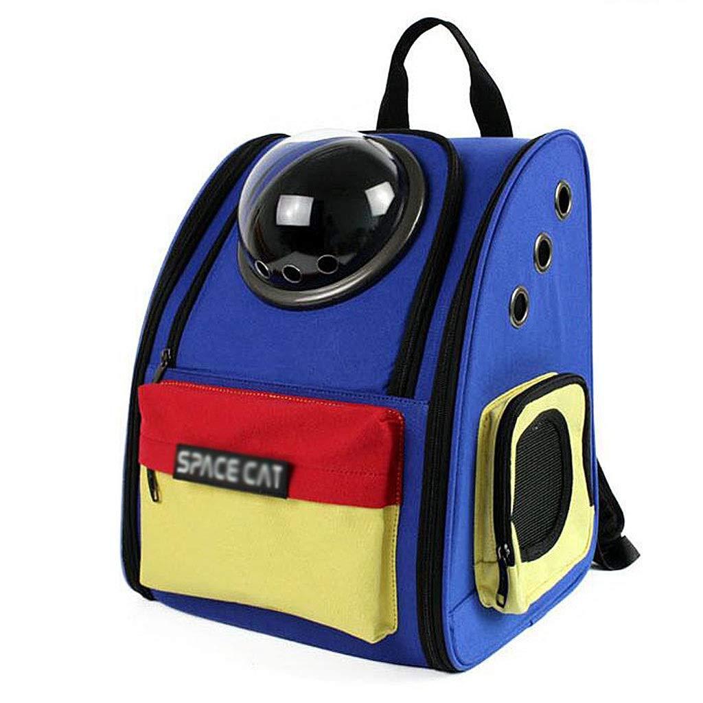bluee 332640cmBackpacks Space Pet Bag Cabin Cat Bag Cat Dog Bag Portable Shoulder Dog Cage Roller Blind Design Four Seasons Universal Suitable For 8kg Pets (color   Green, Size   33  26  40cm)