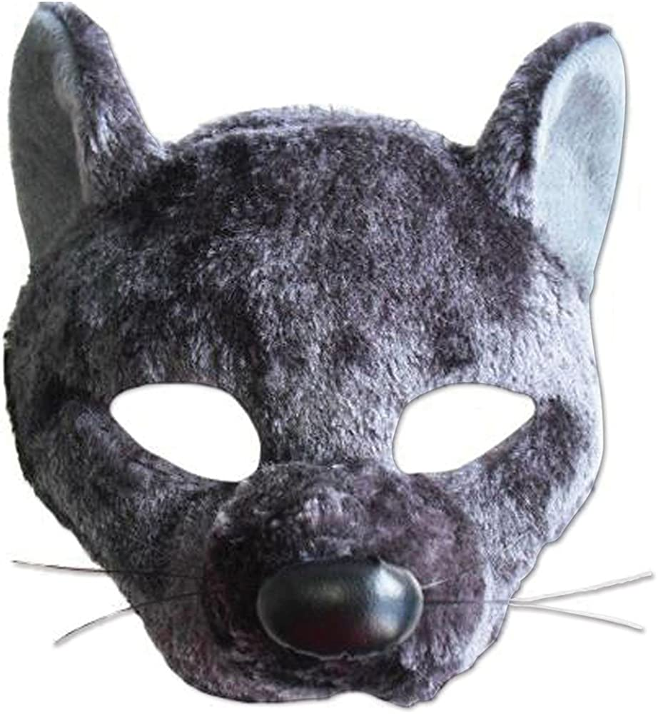Bear Mask Plastic Childs Kids Animal Novelty Fancy Dress Costume Accessory