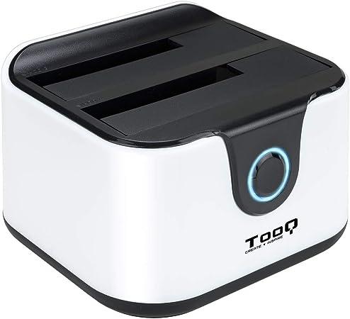 Comprar Tooq TQDS-802BW - Base de conexion Docking Station con Doble Bahia SATA para Discos de 2.5