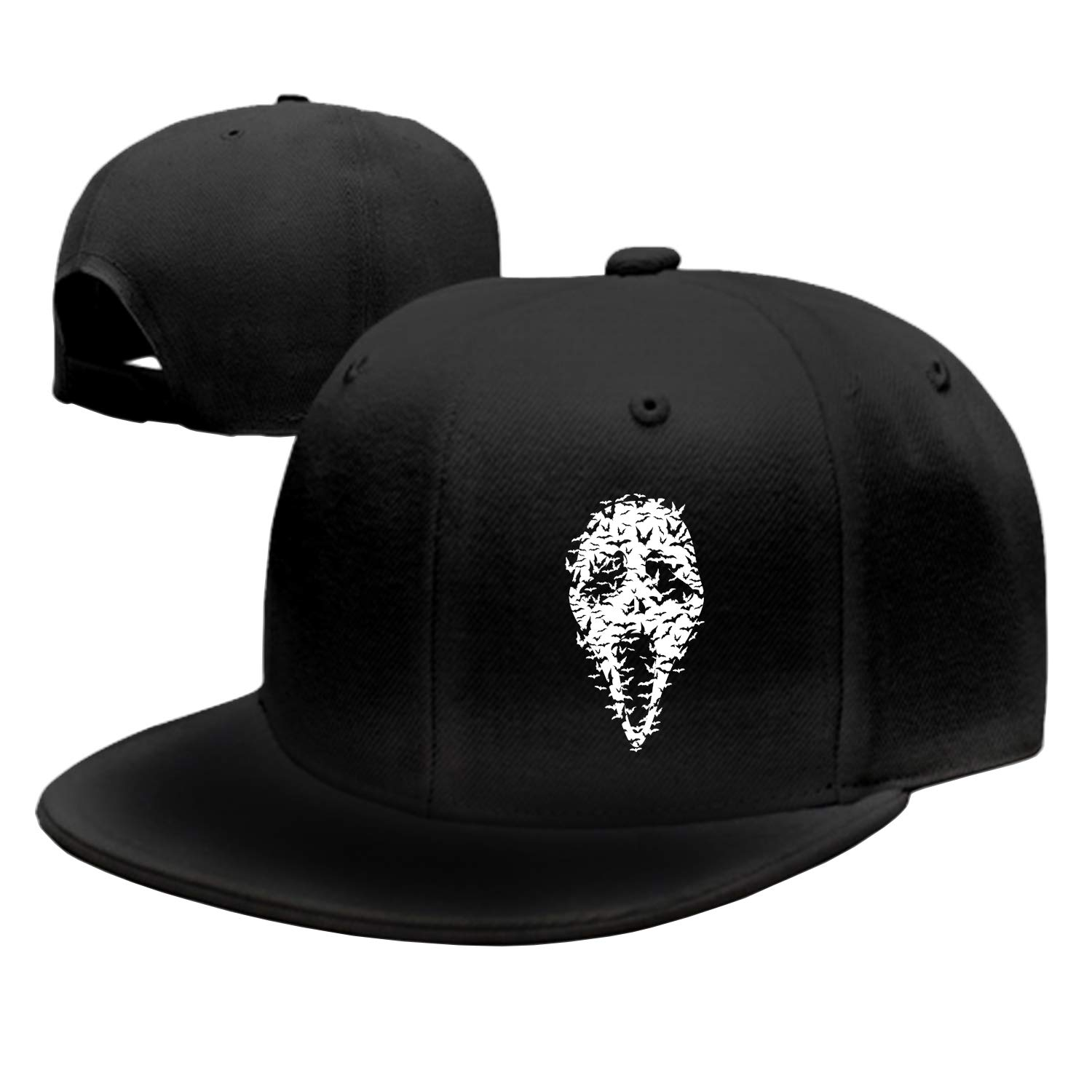 Peaked hat Ghost Face Bats Adjustable Sandwich Baseball Cap Cotton Snapback