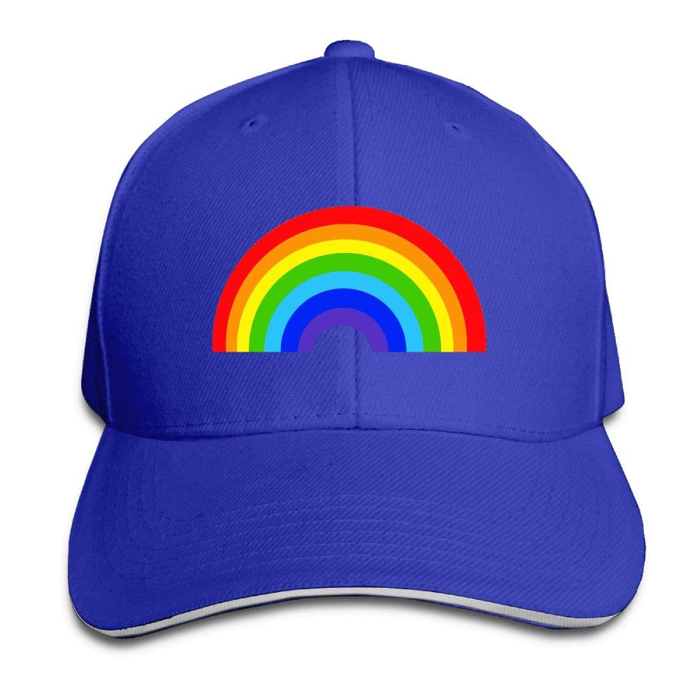 BUSEOTR Rainbow Baseball Caps Adjustable Back Strap Flat Hat