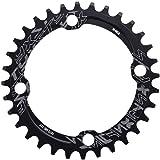 Dioche Bike Chainring, 32/34/36/38T BCD 104 Mountain Bike Single Speed Chainring Suitable for Road Bike Mountain Bike