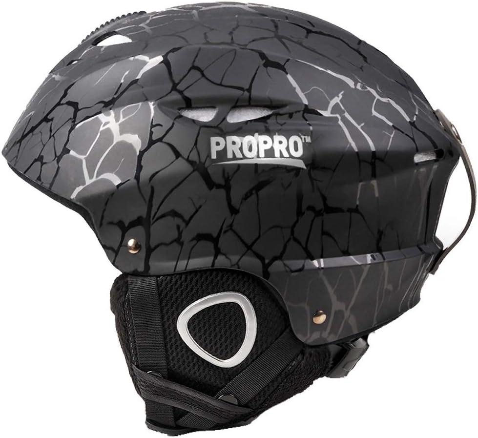 思春期のスキー用ヘルメット男女兼用スキー屋外用具ヘッド安全ヘルメット54-58 cm 保護 (Color : 黒, Size : S)