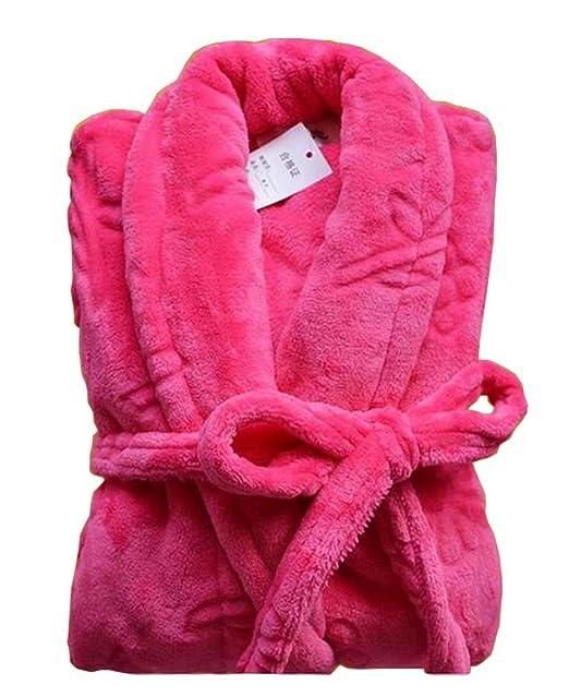 Black Temptation [Rose] Mujeres batas de franela camisón de mujer bata suave para el invierno: Amazon.es: Ropa y accesorios