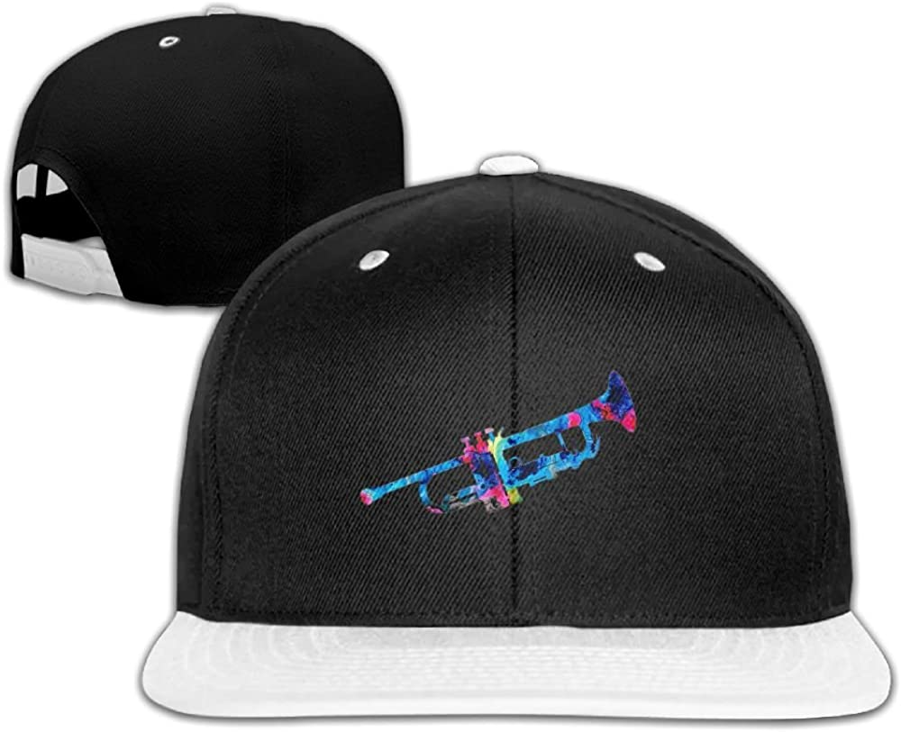 Humaoe Colorful Trumpet 2 Art Fashion Peaked Baseball Caps//Hats Hip Hop Cap Hat Adjustable Snapback Hats Caps for Unisex