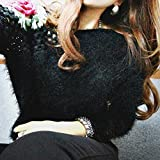 New half price!Women Autumn Winter Pullovers Roses Hook Flowers Hollow Sweater Tops Blouse Muranba