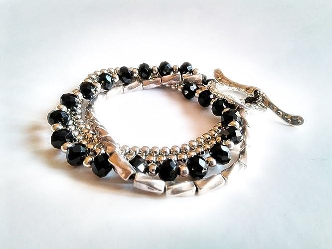 cbcf90e47258 Pulsera Uno de Tres. Pulsera mujer plateada con cristales tipo SWAROVSKI®  transformable en collar