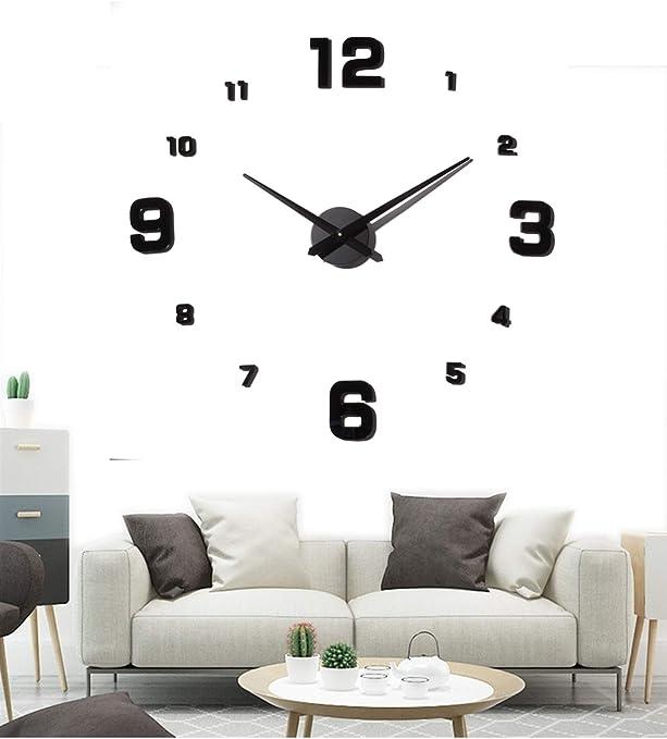 Modern DIY 3D Acrylic Wall Clock Mirror Sticker  Home Office Room Decoration