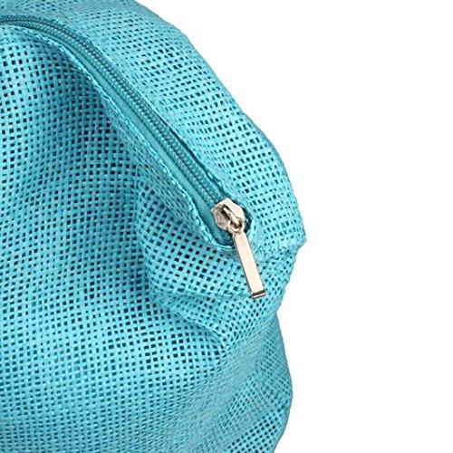 de Bleu de Femmes Simple Casual Blanc paille bonbons Sac Tonsee couleur sacs grands épaule Clair Plage 1ITcq