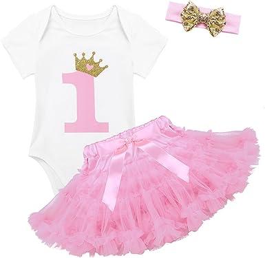 Agoky Bebé Niña Recién Nacida Vestido Tutú Primer Cumpleaños 3 ...