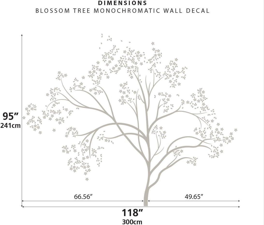 Littlelion Studio Blossom Tree Monochromatic Wall Decal Azure Blue 060027052000000000000000 Wall Stickers Murals