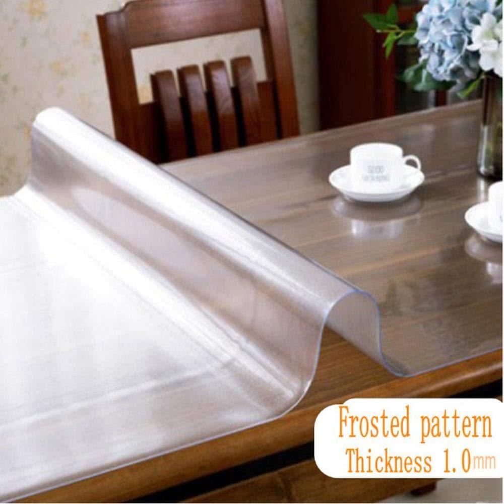 40x60 cm ZMCW Tovaglia in PVC Trasparente Impermeabile Acqua e Cucina Modello Olio Vetro Tovaglia in Tessuto Morbido di Alta qualit/à 1,0 mm Fiore