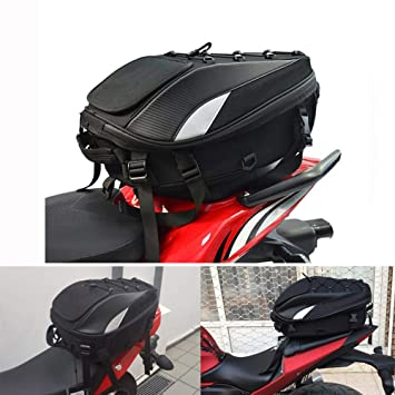 Motorcycle Tail Bags Waterproof - Motorcycle Rear Seat Bag - Motorcycle Bags For Back Seat - Dual Use Sport Motorcycle Backpack Helmet Bag