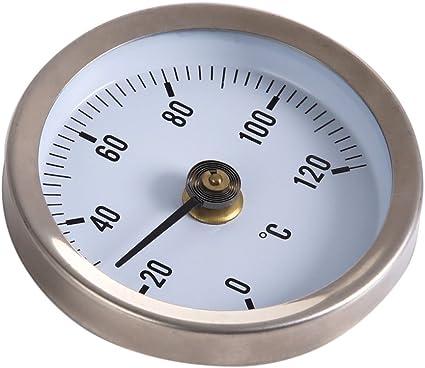 Demiawaking Pipe Thermometer Temperaturanzeige Mit Clip On Feder 0 120 63mm Küche Haushalt