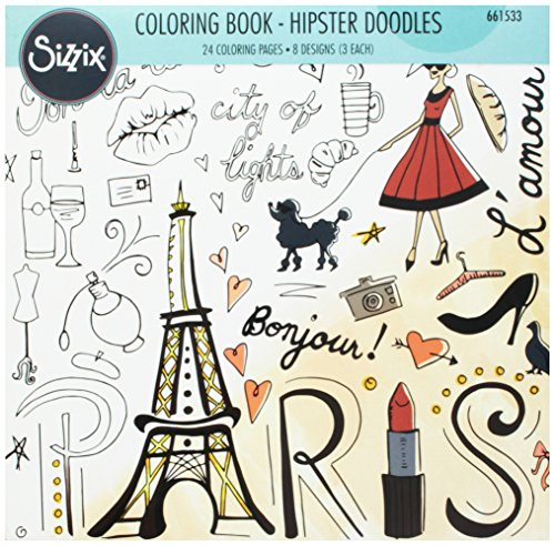 UPC 630454230533, Ellison Sizzix Hipster Doodles Coloring Book by Lindsey Serata