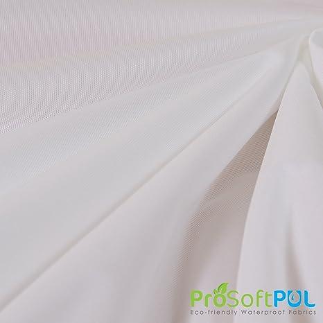 Prosoft stretch-Fit algodón orgánico Jersey resistente al agua 1 mil Pul Tela (color blanco, se vende por el patio): Amazon.es: Juguetes y juegos