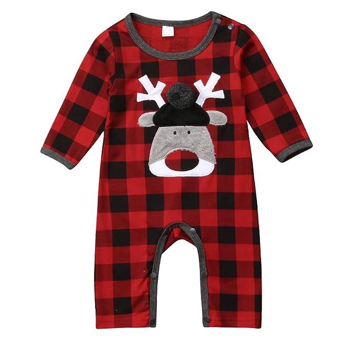 Amazon.com: Traje de Navidad unisex para bebé, manga larga ...
