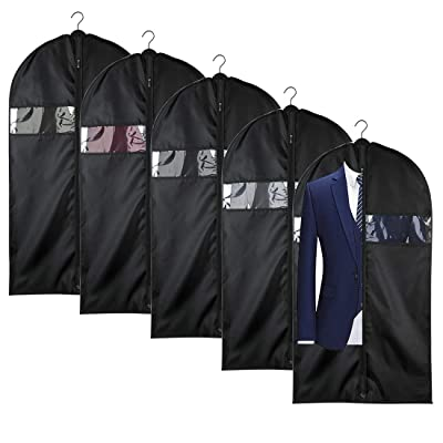 """40/"""" Suit Cover Bags Mens Garment Breathable Travel Zipped Long Dress Covers Bag"""