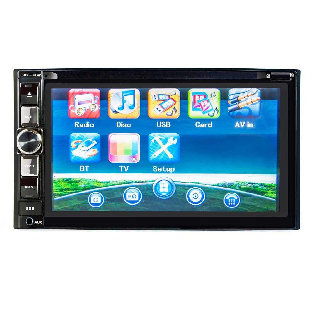 TOOGOO 6.2 Inch Car DVD Cd Player Double Din Press Screen Original Size Support Bluetooth Hands-Free Calling Radio Reception Sound Adjustment