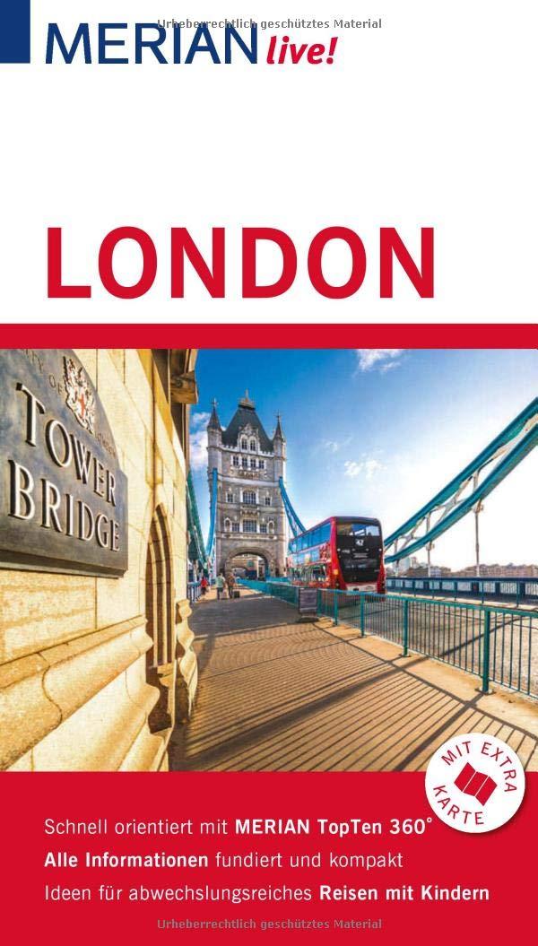 MERIAN Live  Reiseführer London  Mit Extra Karte Zum Herausnehmen
