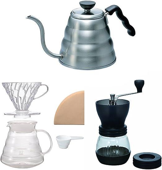Hario V60 - Juego de hervidor de café, cafetera y molinillo de ...