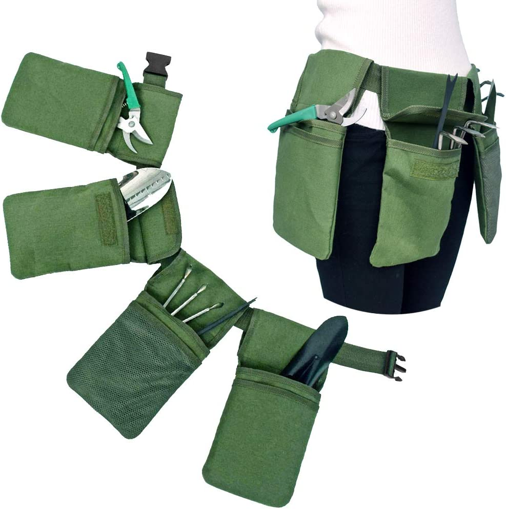 Garden Tools Storage Bag with Pockets, Garden Tote Canvas, Accessories Set Kit