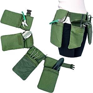 Garden Tools Storage Bag with Pockets, Garden Tote Canvas, Accessories Set Kit