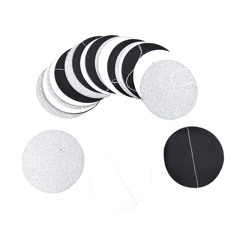 Lanhui Glitter Circle Polka Dots Garland Banner Bunting Wedding Party Decor Mulitcolor (Free Size, C)
