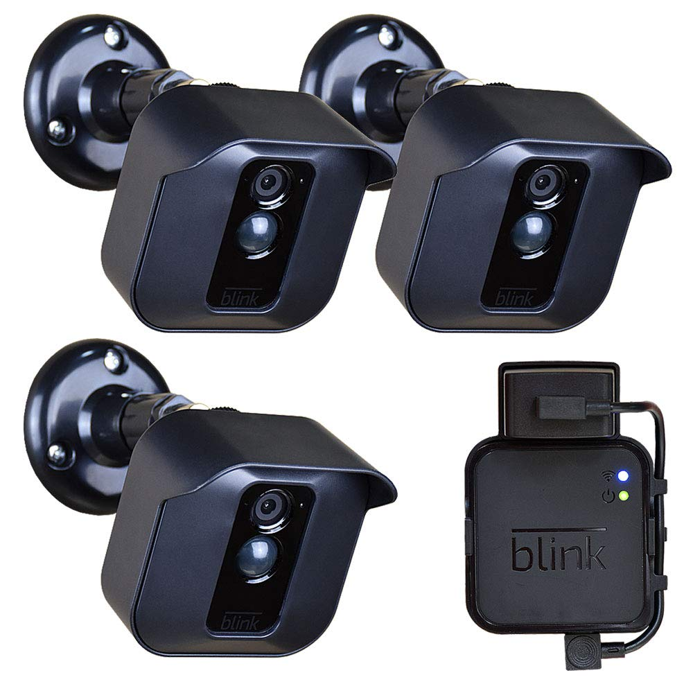 Blink XT Mount Holder Bracket for Blink XT Blink XT2 Home Security Camera Weather Proof Anti-Sun Glare UV Protection 360 Degree Protective Adjustable Indoor/Outdoor,Easy Replace Camera Battery(3 Pack) by GoHonor