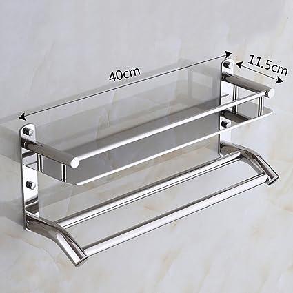 JIUZHOUCAI Baño Baño bastidores de Acero Inoxidable Colgador de Toallas de baño de Pared Colgante,