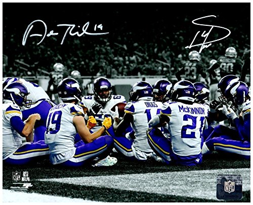 (Stefon Diggs and Adam Thielen Autographed Signed TD (Thanksgiving) Celebration Prostyle 16x20 Photo - Certified)
