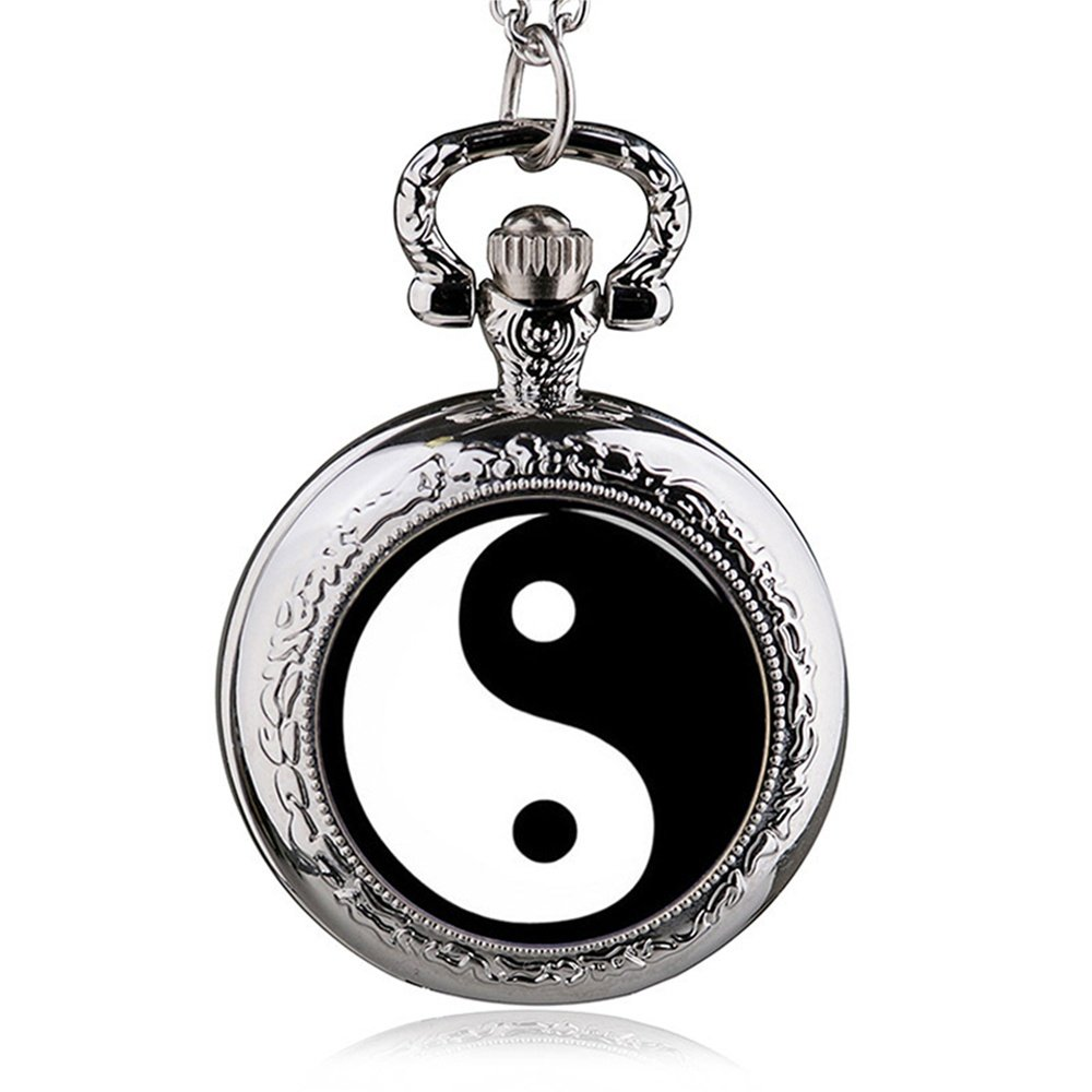 HWCOO Pocket watches Vintage Medium Wall Watch Chinese Style Eight Heaven Quartz Pocket Watch Men's Lady Gift Pocket Watch (Color : 2)