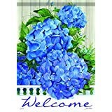 Hydrangea Heaven Flowers Welcome Large 28 by 40-Inch FlagTrends Outdoor Garden Patio Flag