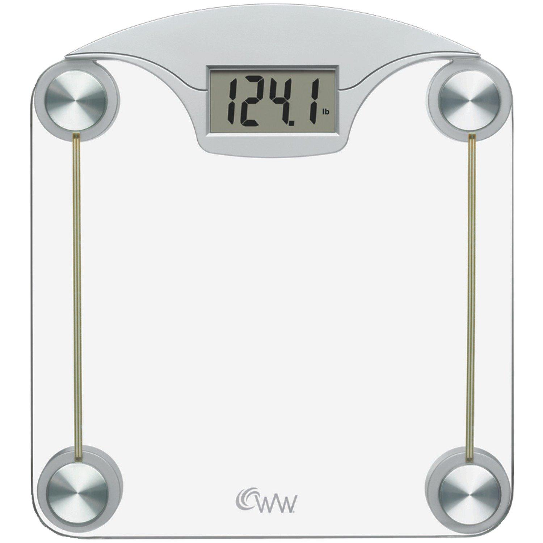 WW Scales by Conair Digital Glass Bathroom Scale, 400 lb. capacity by Conair