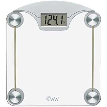 Weight Watchers By Conair Digital Glass Bathroom Scale; 400 Lb. Capacity;  High