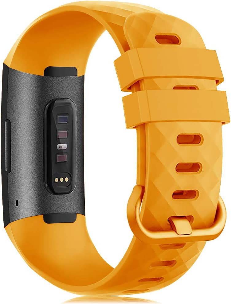 Gogoings Correa Compatible para Fitbit Charge 3//Charge 4 Mujer Hombre Silicona Sport Pulsera de Recambio Straps Compatible con Charge 3 SE Peque/ño Grande