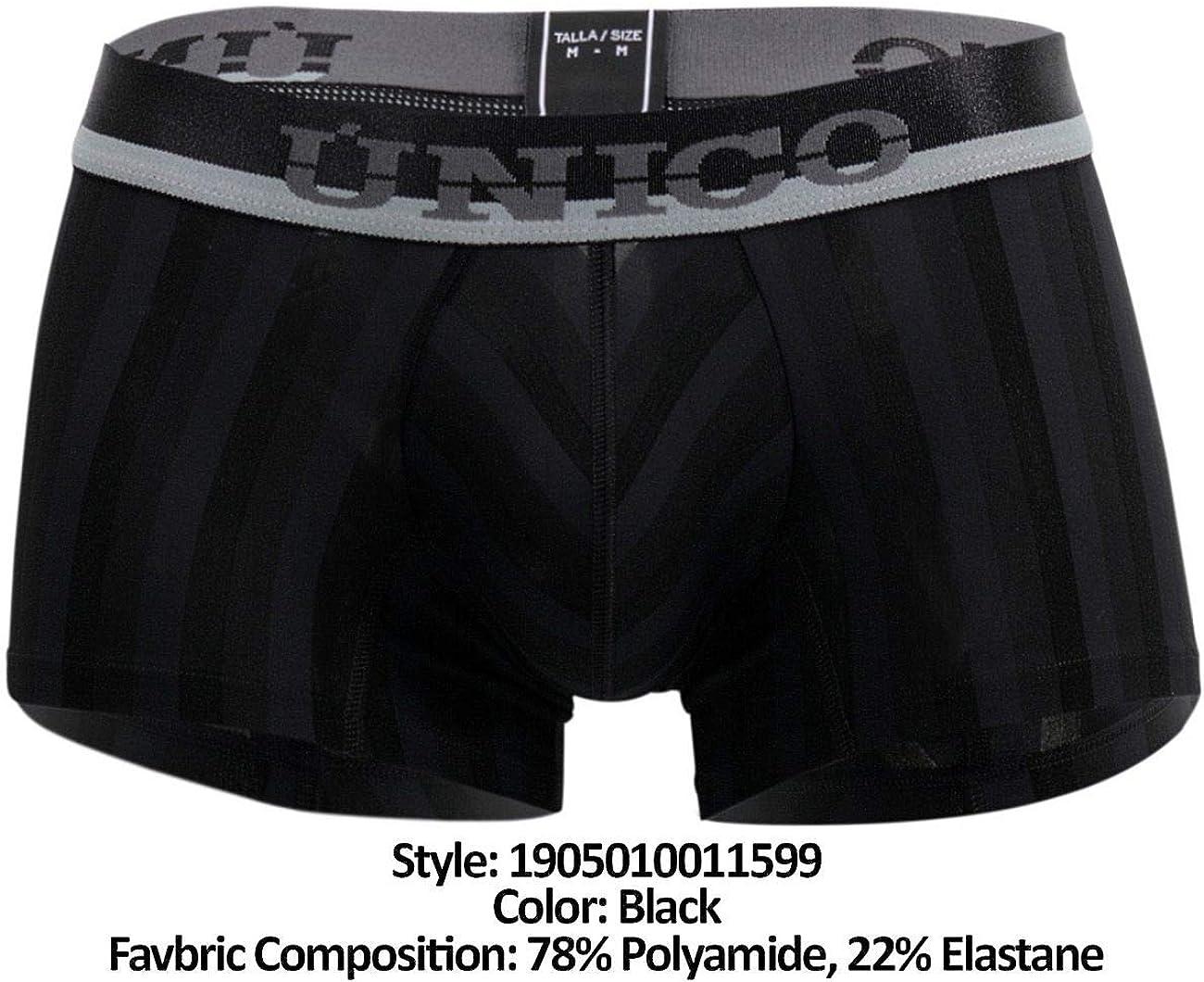 Mundo Unico Men Underwear Microfiber Medium Boxer Briefs Jaquard Calzoncillos