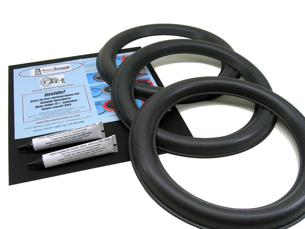 JL Audio 12W6v2-D4, 12W6v2 Speaker Foam Edge Repair Kit 3 Pack (Triple)