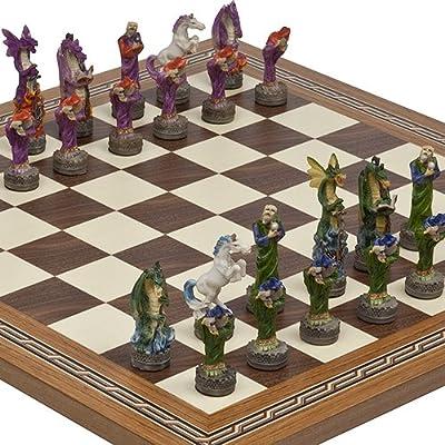 Fantasy Chessmen & Fulton Street Chess Board From Spain.