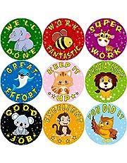 Pegatinas de recompensa de animales de dibujos animados para maestro de escuela Un rollo de 200
