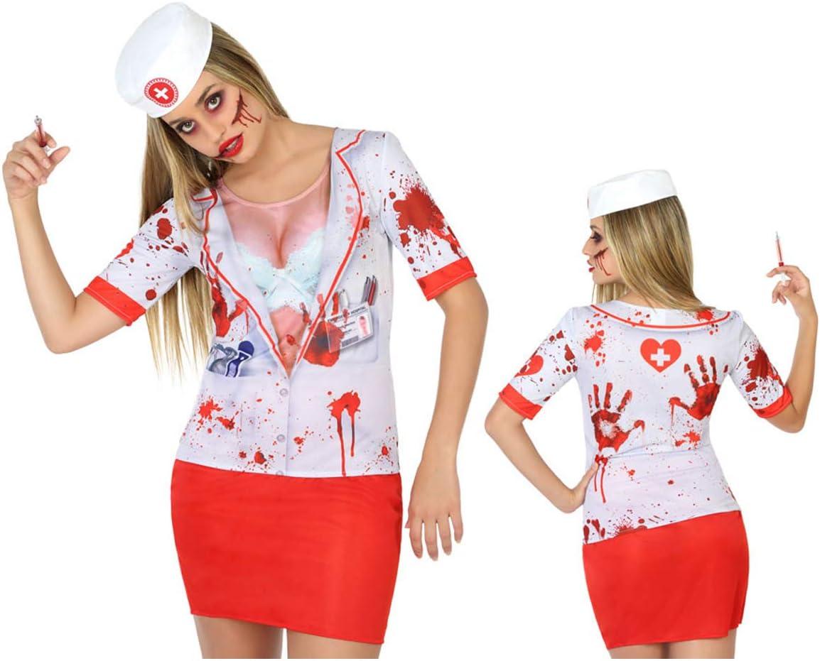Cisne 2013, S.L. Camiseta Enfermera con Sangre de Mujer para ...