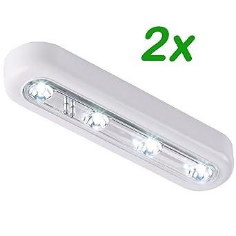 2er Set LED Touch Licht Lampe Nachlicht Beleuchtung Leuchten ...