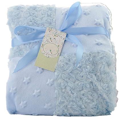 FamyFirst Manta Polar para bebé, Gruesa de Felpa, Doble Capa, Suave Manta para