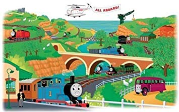 Amazoncom Defonia Thomas The Train Wall Mural Stickers Map Party