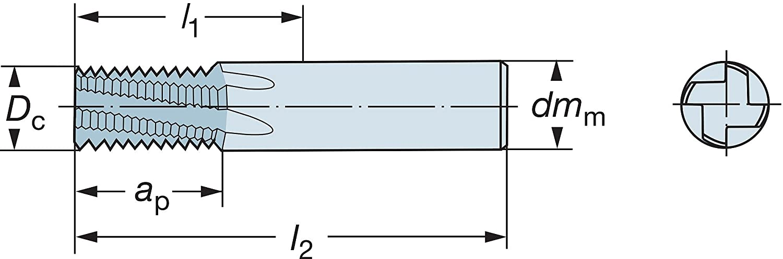 Sandvik Coromant R215.H4 Carbide Corner Radius End Mill 0.5mm Corner Radius 57mm Overall Length 6mm Cutting Diameter Non-Center Cutting 50 Deg Helix Metric 6mm Shank Diameter 4 Flutes TiAlN Monolayer Finish
