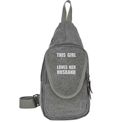 good This Girl Loves Her Husband Fashion Men's Bosom Bag Cross Body New Style Men Canvas Chest Bags
