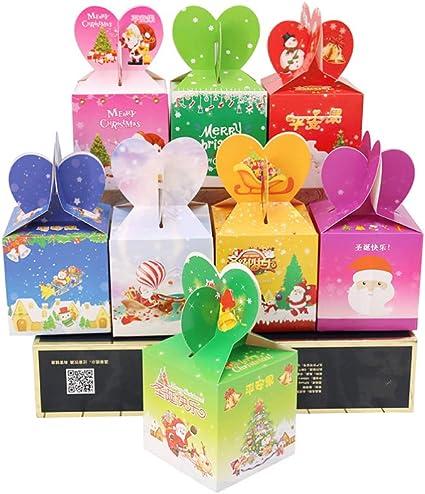 NUOBESTY caja de regalo de navidad caja de dulces de frutas de ...
