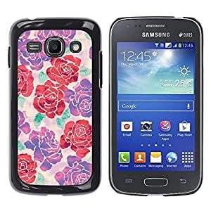 Be Good Phone Accessory // Dura Cáscara cubierta Protectora Caso Carcasa Funda de Protección para Samsung Galaxy Ace 3 GT-S7270 GT-S7275 GT-S7272 // begonia rose floral silk art desi
